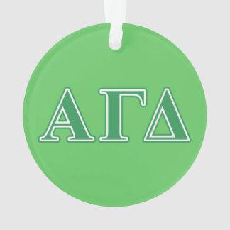 Alpha Gamma Delta Green Letters