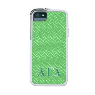 Alpha Gamma Delta Green Letters iPhone SE/5/5s Cover