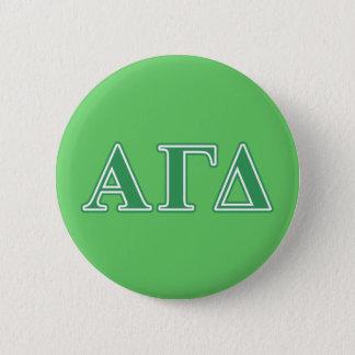 Alpha Gamma Delta Green Letters Pinback Button