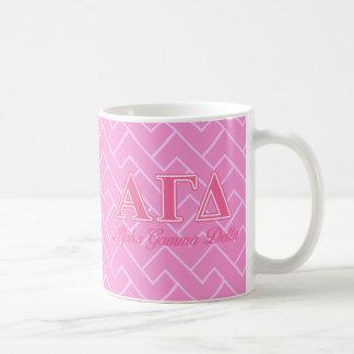 Alpha Gamma Delta Pink Letters Coffee Mug