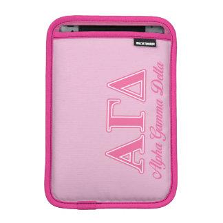 Alpha Gamma Delta Pink Letters iPad Mini Sleeves