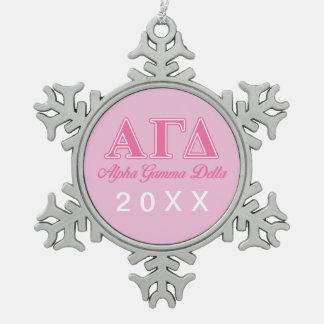 Alpha Gamma Delta Pink Letters Ornaments