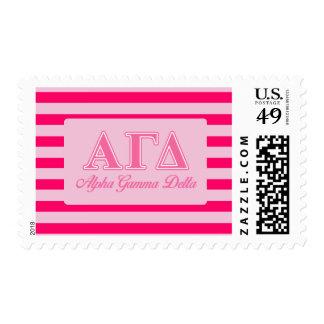 Alpha Gamma Delta Pink Letters Postage