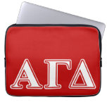 Alpha Gamma Delta Red and White Letters Computer Sleeves