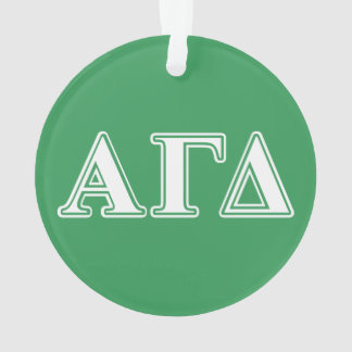 Alpha Gamma Delta White and Green Letters 2