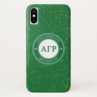 Alpha Gamma Rho   Badge iPhone X Case