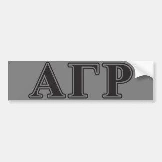 Alpha Gamma Rho Black Letters Bumper Sticker