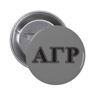 Alpha Gamma Rho Black Letters Pinback Button