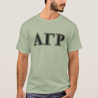 Alpha Gamma Rho Black Letters T-Shirt