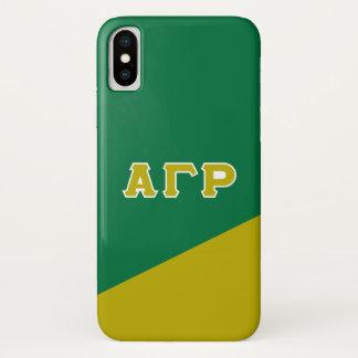 Alpha Gamma Rho   Greek Letters iPhone X Case