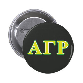 Alpha Gamma Rho Green and Yellow Letters Pinback Button