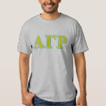 Alpha Gamma Rho Green and Yellow Letters T-Shirt