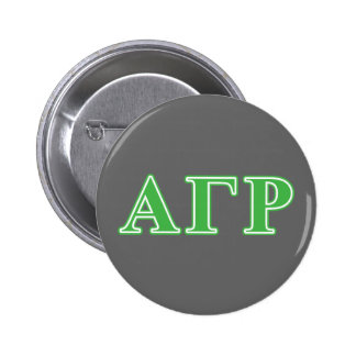 Alpha Gamma Rho Green Letters Pinback Button
