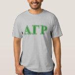 Alpha Gamma Rho Green Letters T-Shirt