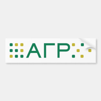 Alpha Gamma Rho - Letters Horizontal Bumper Sticker