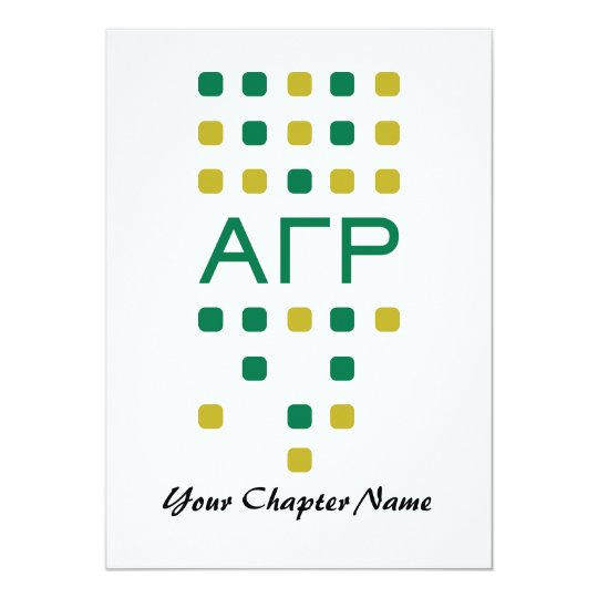 Alpha Gamma Rho - Letters Vertical Card