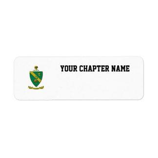 Alpha Gamma Rho Official Coat of Arms Label