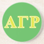 Alpha Gamma Rho Yellow Letters Beverage Coasters