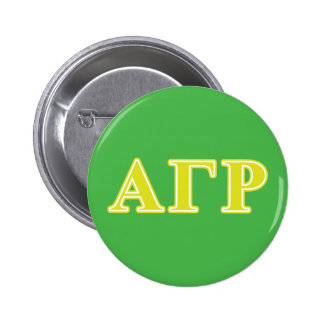 Alpha Gamma Rho Yellow Letters Pinback Button
