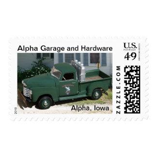 Alpha Garage and Hardware Commemorative Stamp 2