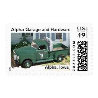 Alpha Garage and Hardware Commemorative Stamp