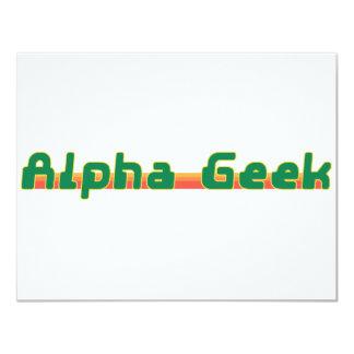 Alpha Geek Card