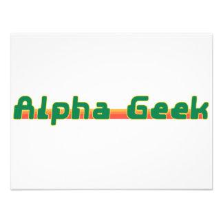 Alpha Geek Custom Invites