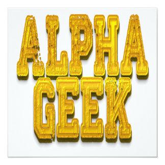Alpha Geek Gold Card