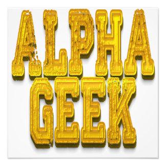 Alpha Geek Gold Photo
