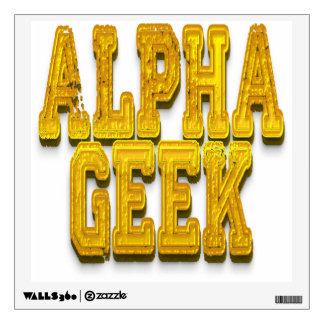 Alpha Geek Gold Room Sticker