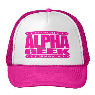 ALPHA GEEK - I Mind Control Your Universe, Pink Trucker Hat