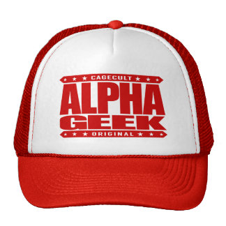 ALPHA GEEK - I Mind Control Your Universe, Red Trucker Hat