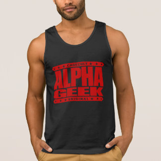 ALPHA GEEK - I Mind Control Your Universe, Red Tank Tops