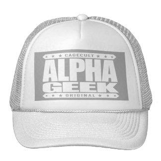 ALPHA GEEK - I Mind Control Your Universe, White Trucker Hat