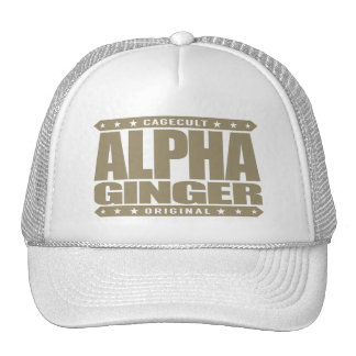 ALPHA GINGER - A Red-Haired Pale Warrior, Gold Trucker Hat