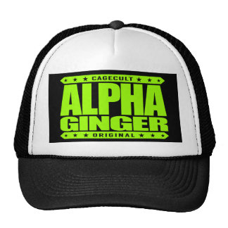 ALPHA GINGER - A Red-Haired Pale Warrior, Lime Trucker Hat