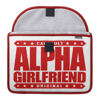 ALPHA GIRLFRIEND - I Wear The Skinny Jeans, Red MacBook Pro Sleeve