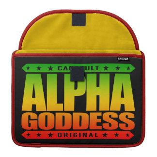 ALPHA GODDESS - Worship My Divine Feminine, Rasta Sleeves For MacBooks