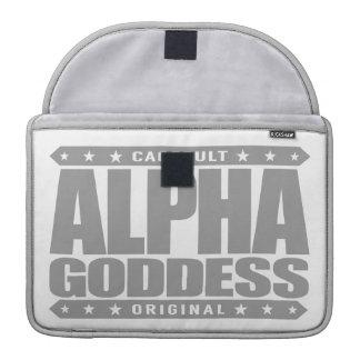 ALPHA GODDESS - Worship My Divine Feminine, Silver Sleeves For MacBooks