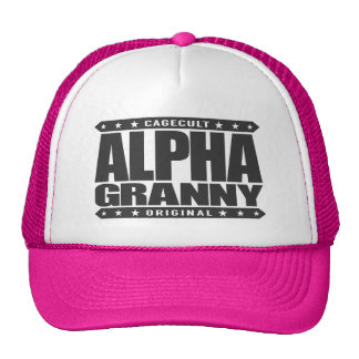 ALPHA GRANNY - Very Alive and Kicking Butt, Black Trucker Hat