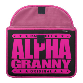 ALPHA GRANNY - Very Alive and Kicking Butt, Pink MacBook Pro Sleeve