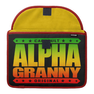 ALPHA GRANNY - Very Alive and Kicking Butt, Rasta MacBook Pro Sleeve