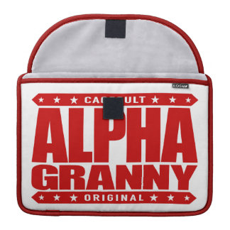 ALPHA GRANNY - Very Alive and Kicking Butt, Red MacBook Pro Sleeve
