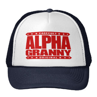ALPHA GRANNY - Very Alive and Kicking Butt, Red Trucker Hat