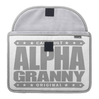 ALPHA GRANNY - Very Alive and Kicking Butt, Silver MacBook Pro Sleeve