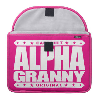 ALPHA GRANNY - Very Alive and Kicking Butt, White Sleeve For MacBook Pro