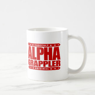 ALPHA GRAPPLER - Love Brazilian Jiu-Jitsu, Red Coffee Mug