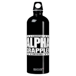 ALPHA GRAPPLER - Love Brazilian Jiu-Jitsu, White Water Bottle