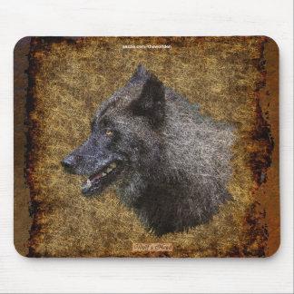 Alpha Grey Wolf Art Wildlife Conservation Mousepad