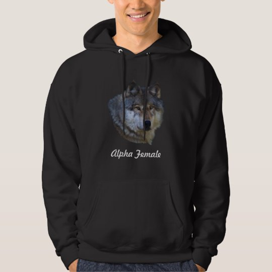 Alpha Grey Wolf Collection Hoodie